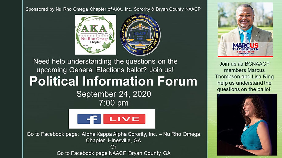 Political Information Forum September 24