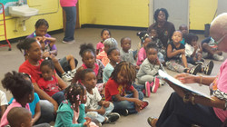 Reading to PreK students