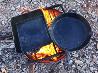 Camp Oven Cooking for healthy eating on Camel Treks