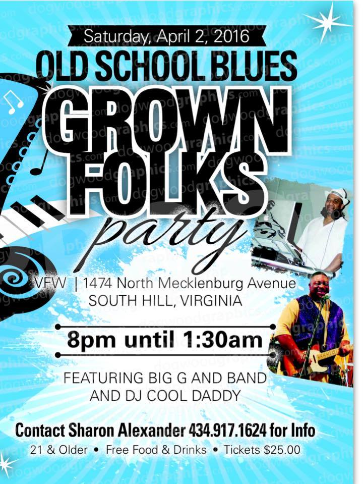 Old School Blues Grown Folks Party