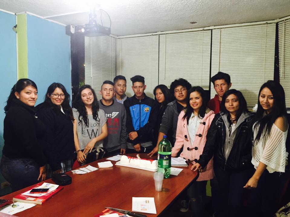 Estudiantes del curso de inglés