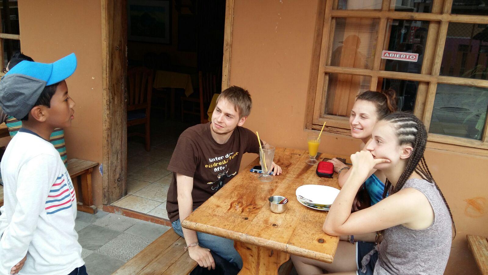 practicando con extranjeros el ingle