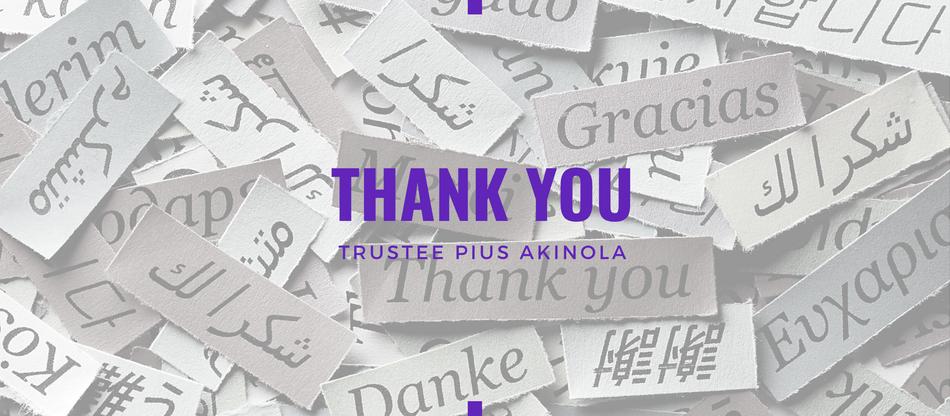 Lent 2021: Thank You by Pius Akinola