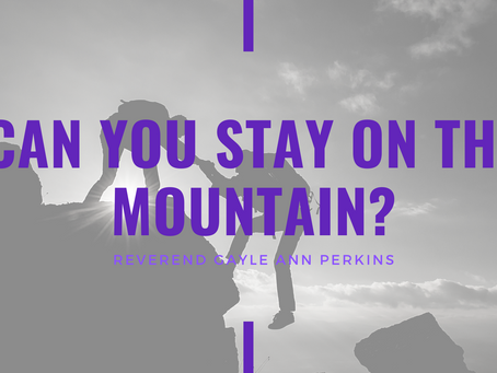 Lent 2021: Can You Stay on the Mountain by Reverend Gayle Ann Perkins