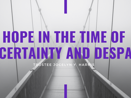 Advent 2020: Hope in the time of Uncertainty and Despair by Jocelyn Harris