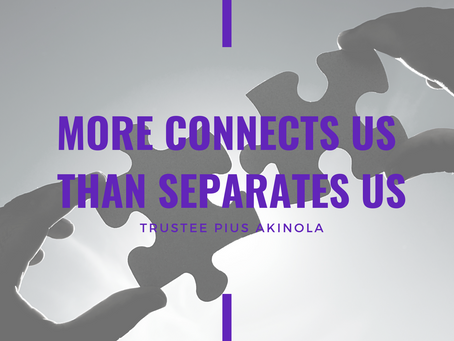 Advent 2020: More Connects Us Than Separates Us by Pius Akinola