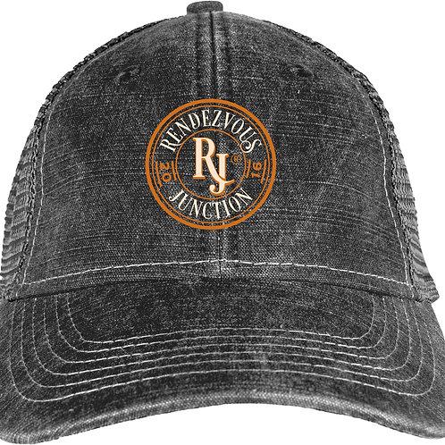 RJ Monogram Trucker Hat Black