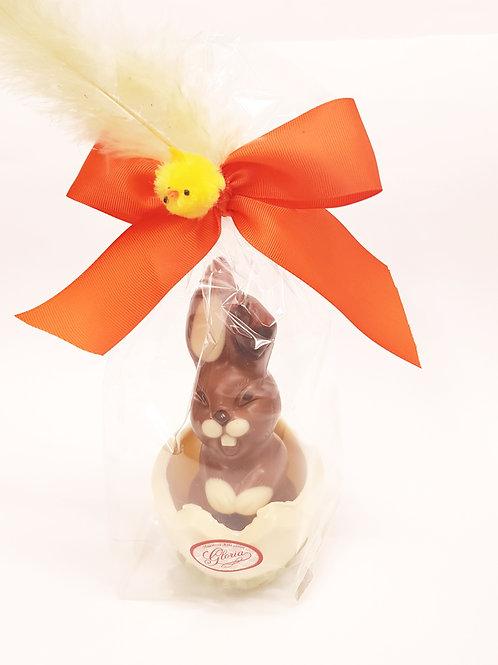 Conejo en huevo de choco