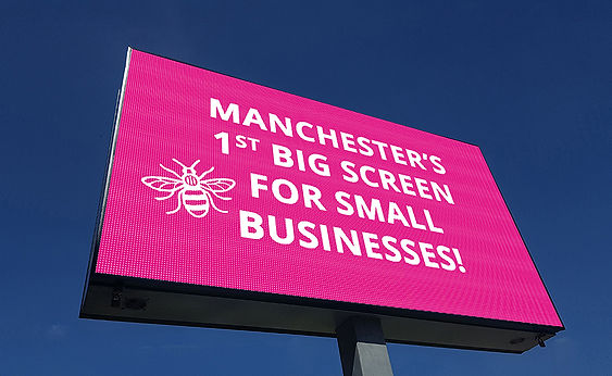 Manchester Roadside Advertising Screen P