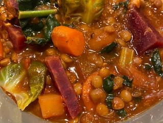 Postpartum Food Vybz - Hearty Lentil Soup