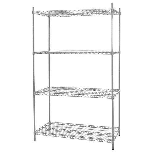 Heavy Duty Commercial Wire Shelving Chrome Plated