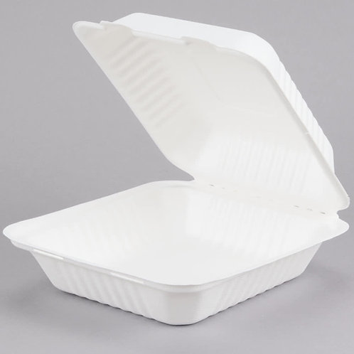 Biodegradable Container 1 Compartment 8x8 in