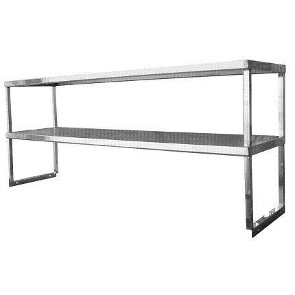 Stainless Steel & Worktable Overshelf