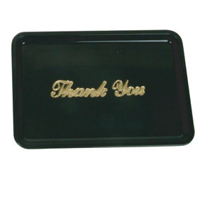 Gold Imprinted Plastic Tip Tray