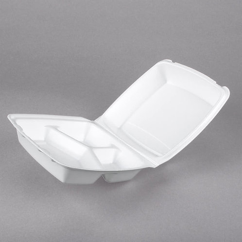 Biodegradable Container 3 Compartment 8x8