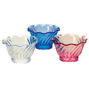 Plastic Swirl Dessert Dish