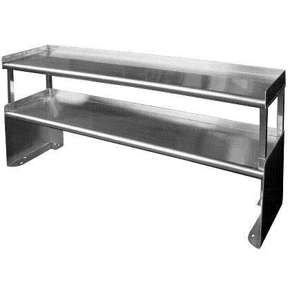 DS-SP Model Stainless Steel Double Overshelf
