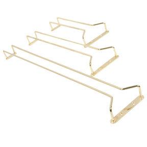 "Wire Glass Hanger 10"" Brass-Plate"
