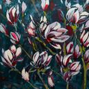 magnolii_acrilic pe panza 80 pe 80 cm_au