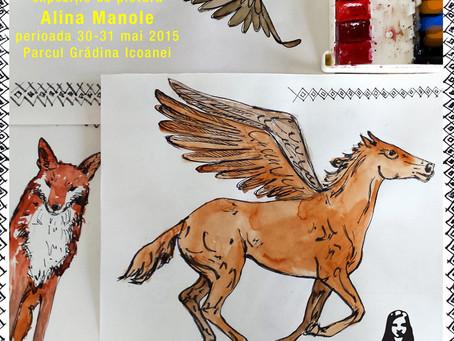 """""""…de poveste"""" , expoziție de pictură semnată  Alina Manole @ Grădina cu artişti"""
