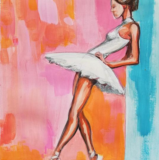 balet_acrilic pe panza _autor Alina Mano