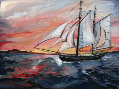 peisaj cu barca