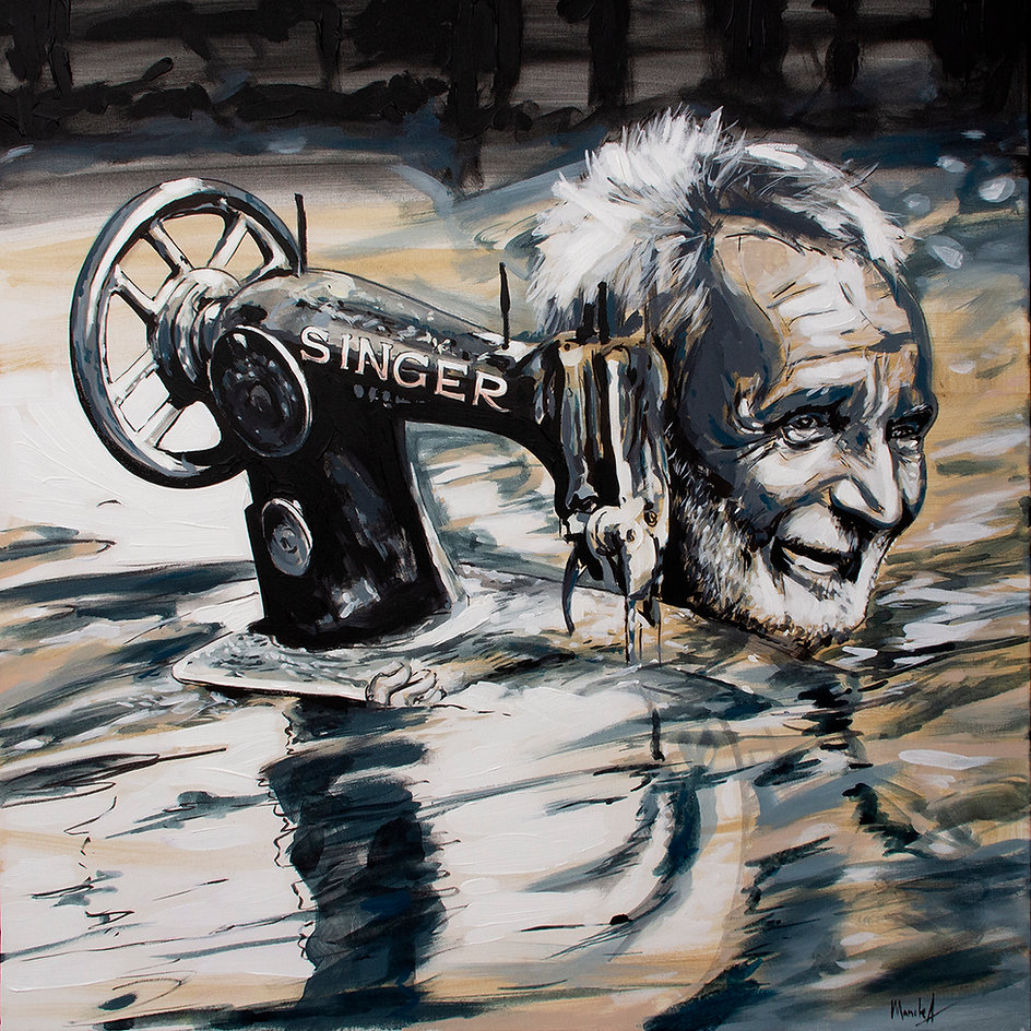 pictura masina de cusut SINGER_acrilic p