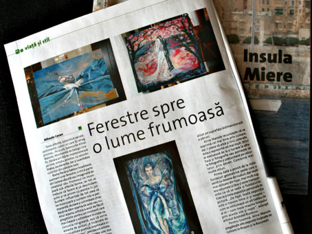 """ Ferestre spre o lume frumoasa "" – articol aparut in Jurnalul de Duminica"