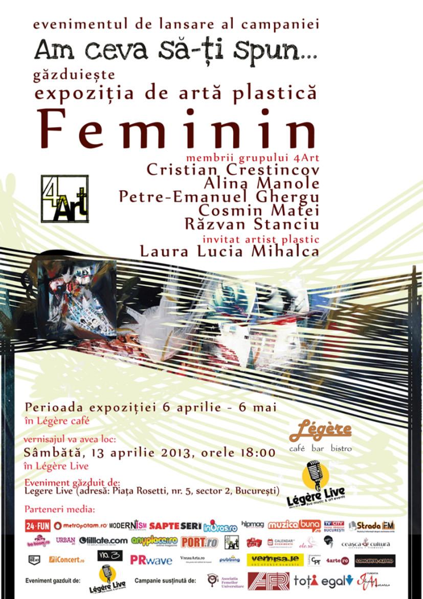 afisul expozitiei Feminin_site