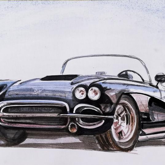 chevrolet corvette 1962_autor Alina Mano