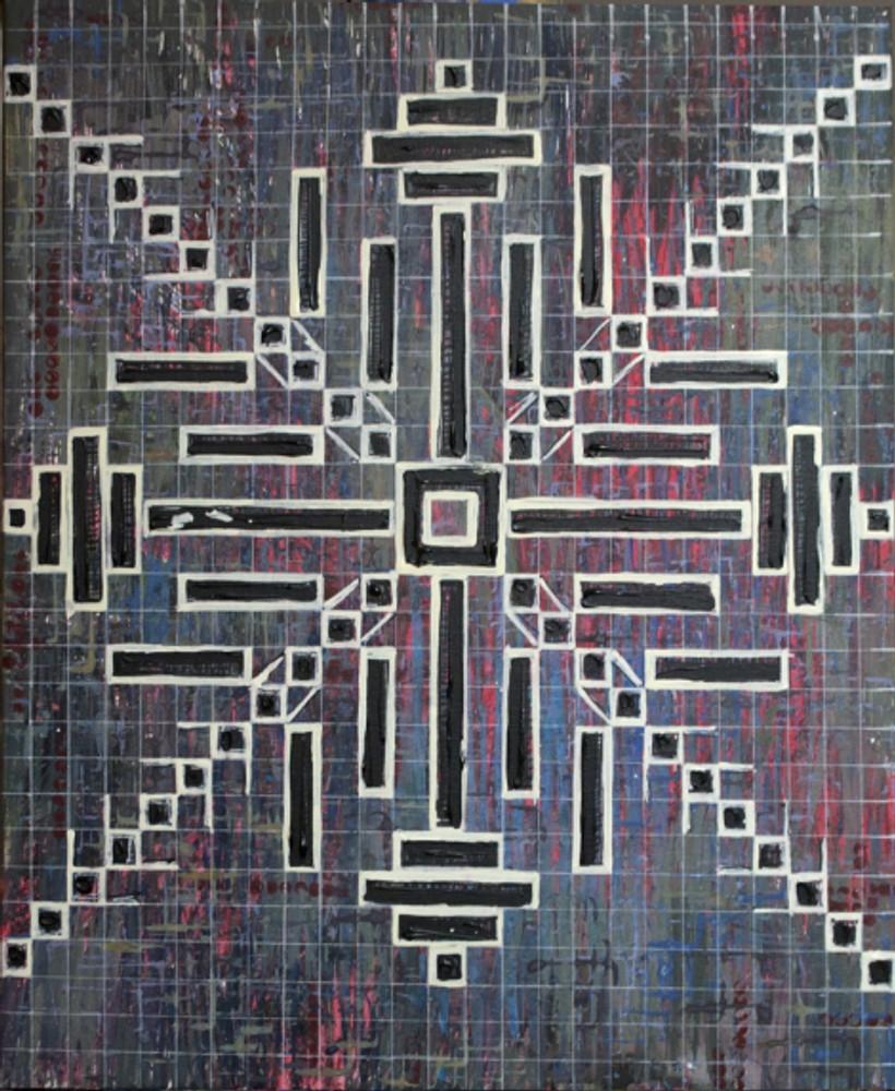 """autor: Alina Manole titlu: """"Cruce 1"""" tehnica: acrilic/panza dimensiune: 60/50 cm"""
