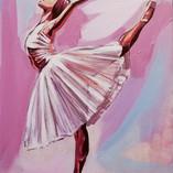 balerina 30pe 50 cm_acrilic pe panza_aut