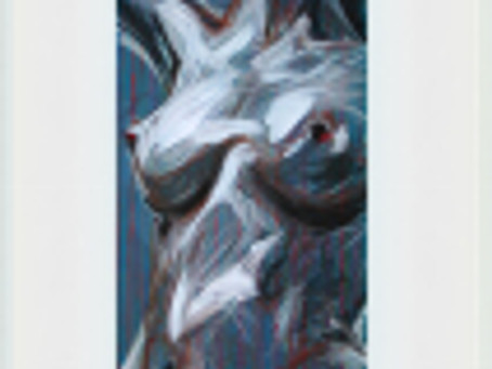 nud albastru