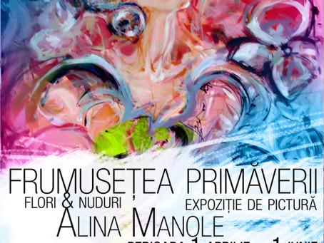 """""""Frumuseţea primăverii"""" expoziţie de pictură semnată Alina Manole"""