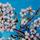 flori de visin_acrilic pe panza_40pe70 c
