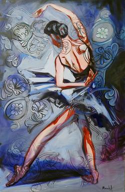 balerina_50 pe 80 cm _autor Alina Manole