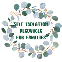 self isolation resources for families ho