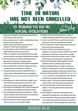 25 Things to do in Social Isolation Reso