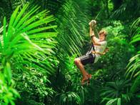Ziplining in Puerto Morelos