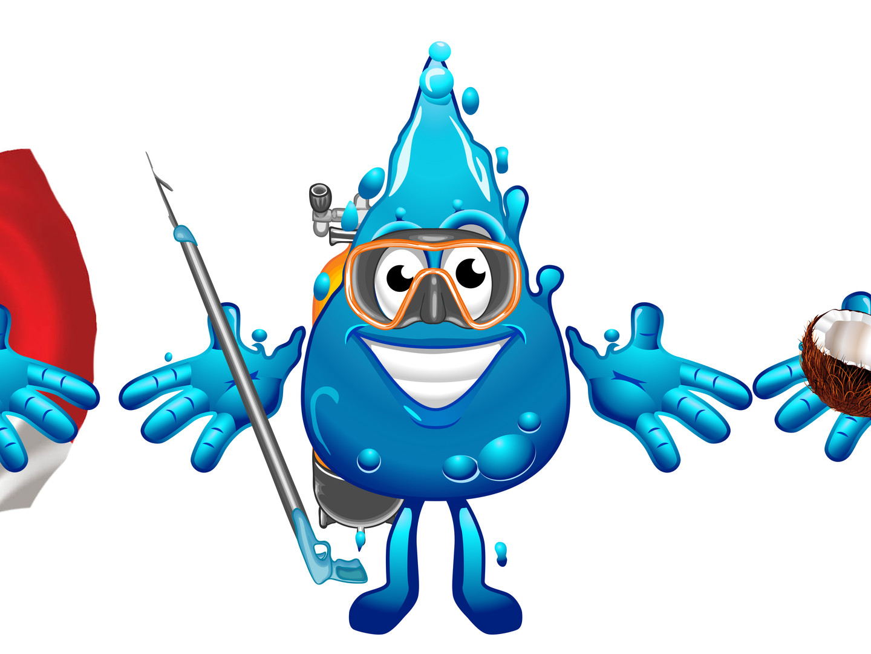 Wet Set Mascot Design