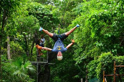 Zipline in Puerto Morelos