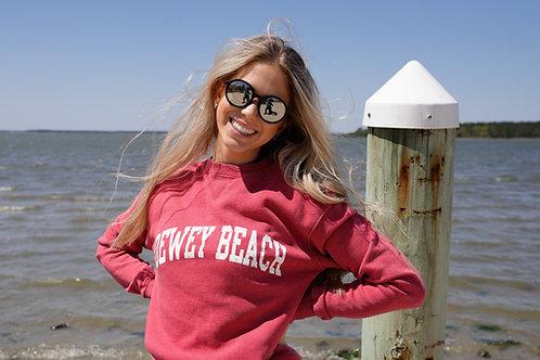 Soft Dewey Beach Crewneck Crimson