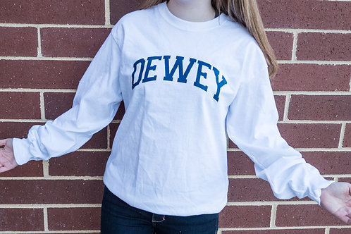 Classic Dewey Beach Long Sleeve T Shirt White