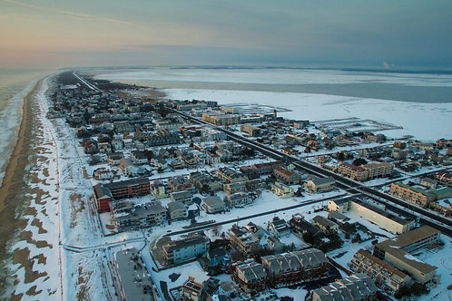 Snow Covered Dewey Beach Delaware