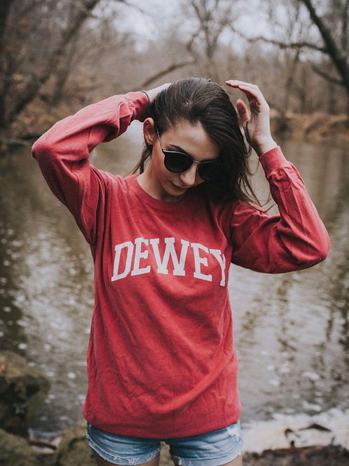 Classic Dewey Beach Long Sleeve T Shirt Comfort Crimson