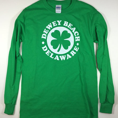 Lucky Dewey Beach Long Sleeve Tee Green