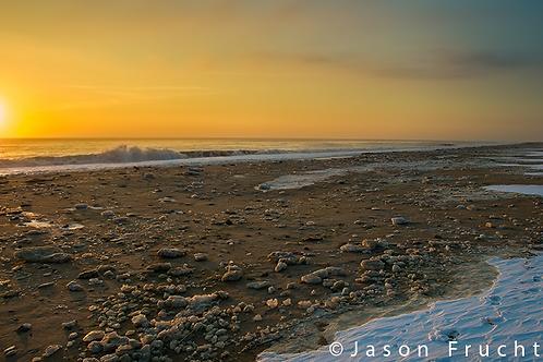 Dewey Beach Iced Beach Sunrise