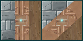 Hand painted stylized textures