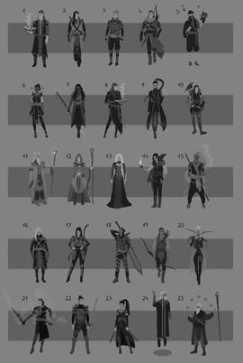 Character thumbnail variations