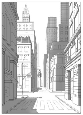 Perspective Practice - 1 vanishing point